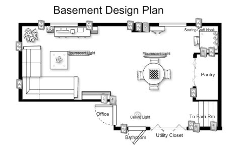 The Basement Teen Hangout Plan