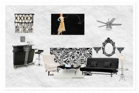OB-Modern Glam Liv Room