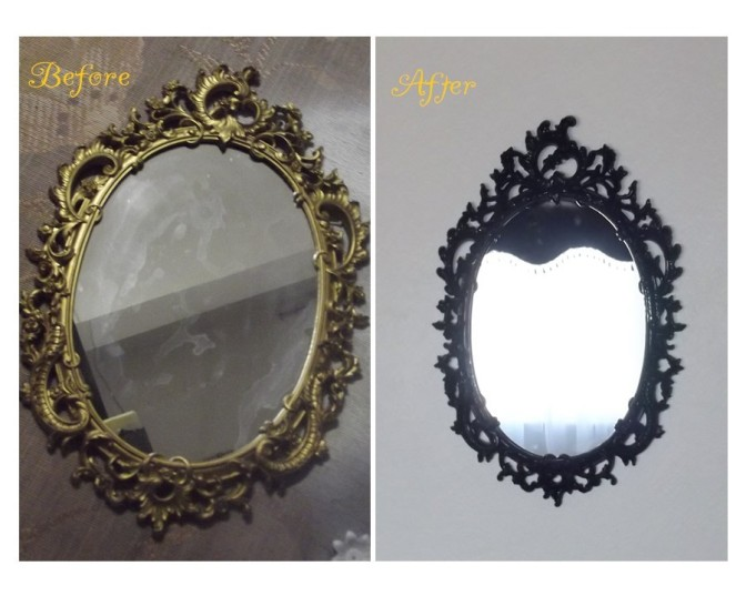 Updated Rococo Style Vintage (70's) Wall Mirror