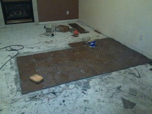 Tiling the family room