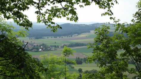 View of Parkstein from the Castle Wall.