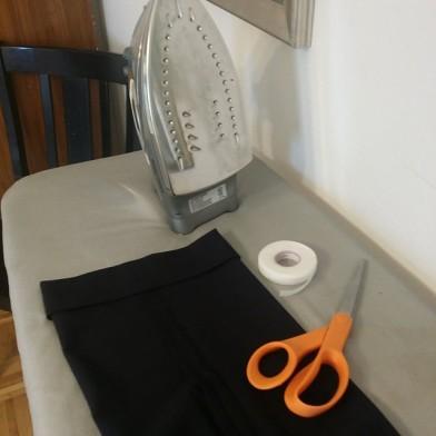 Last Minute Hem Using Sew-Sew Hem Tape