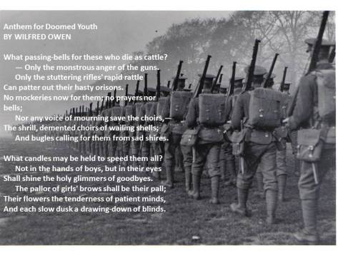 """Anthem for Doomed Youth"" By Wilfred Owen"