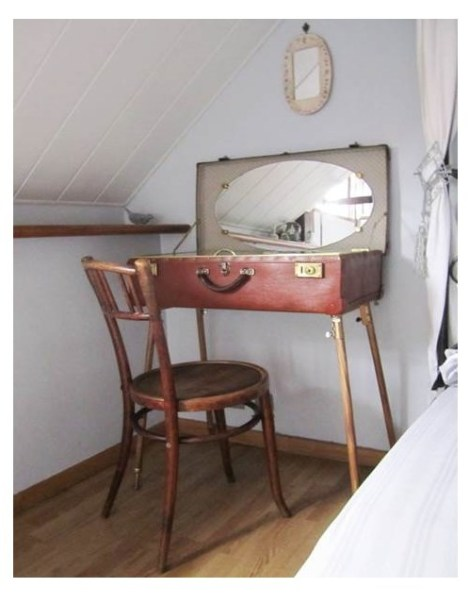 suitcase vanity table insp